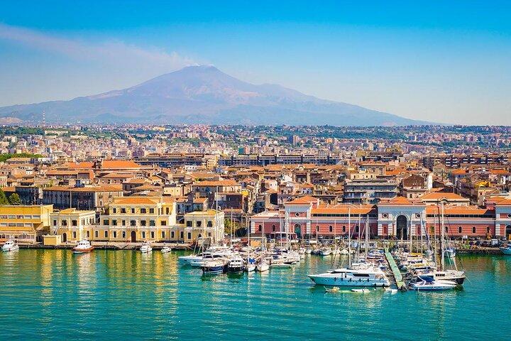 The harbor at Catania, Sicily, Italy