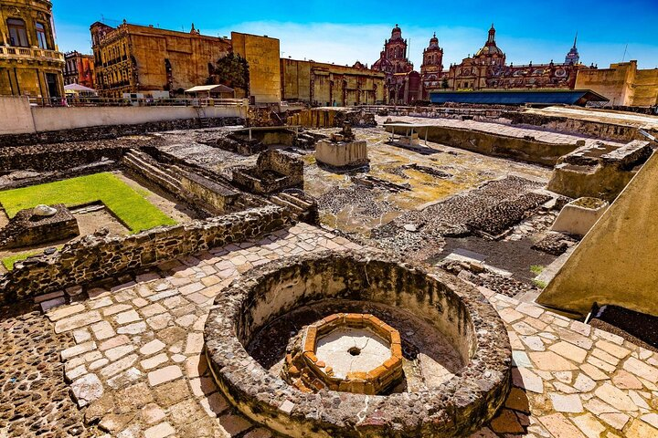 The ruins of the Templo Mayor in Mexico City.