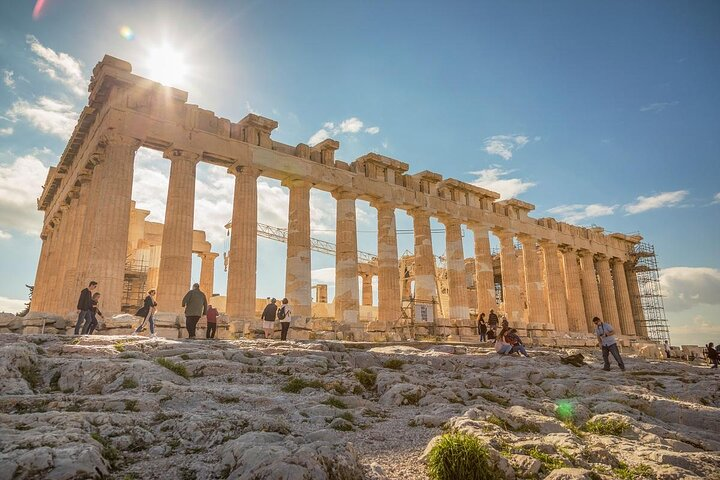 The ancient Parthenon in Athens, Greece