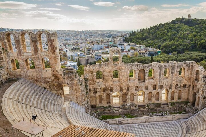 The Odeon of Herodes Atticus in Athens