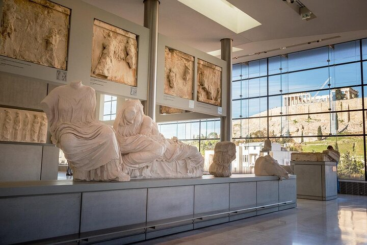 Statues at the Acropolis Museum in Athens, Greece