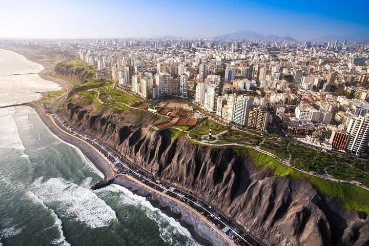 Lima, Peru from above.