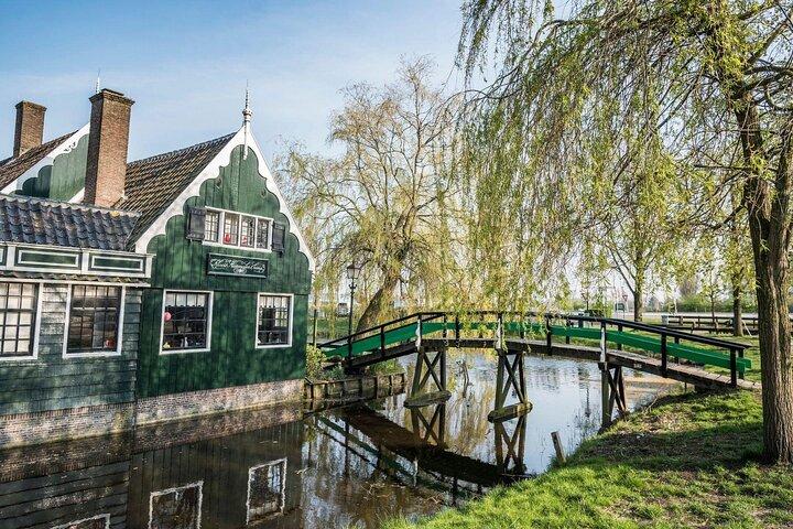 A windmill in Zaanse Schans, Amsterdam