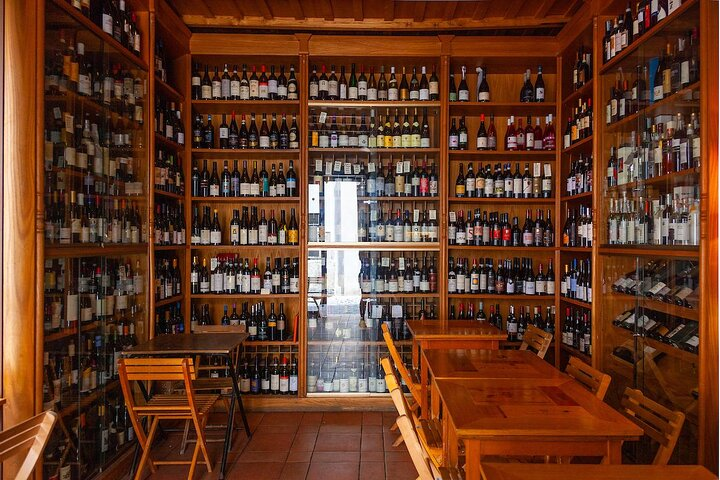 The selection at L'Angolo Divino Wine Bar in Rome