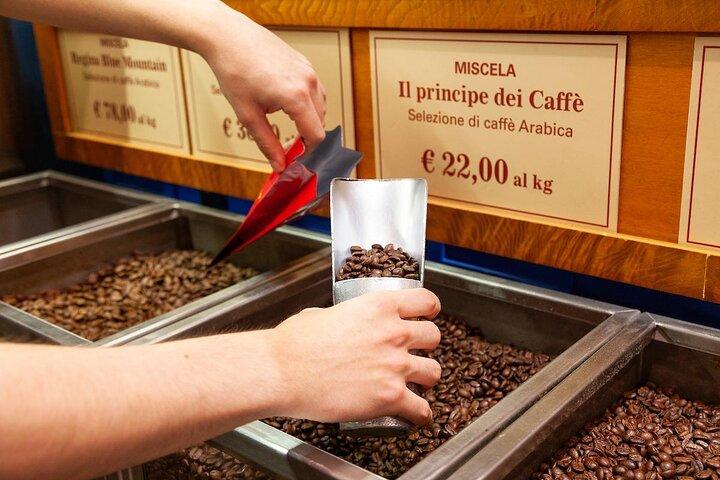 Coffee beans at Tazzo Doro Coffee Shop