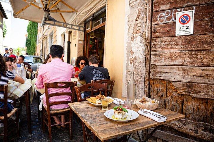 Antipasti at Restaurant Da Enzo in Rome
